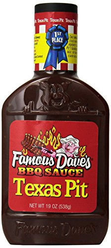 Famous Dave's BBQ Sauce Texas Pit, 19-Ounce (Pack of 2)