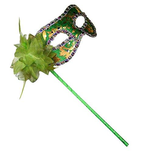 Belle House Rhinestones Green Venetian Women's Masquerade Mask on a -