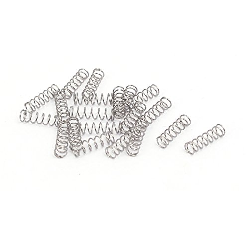 3 Mm Spring - uxcell 0.3mmx3mmx10mm 304 Stainless Steel Compression Springs Silver Tone 20pcs