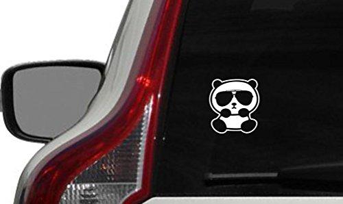 Cute Panda Wearing Sunglass Car Vinyl Sticker Decal Bumper Sticker for Auto Cars Trucks Windshield Custom Walls Windows Ipad Macbook Laptop and More - Sunglass Decals