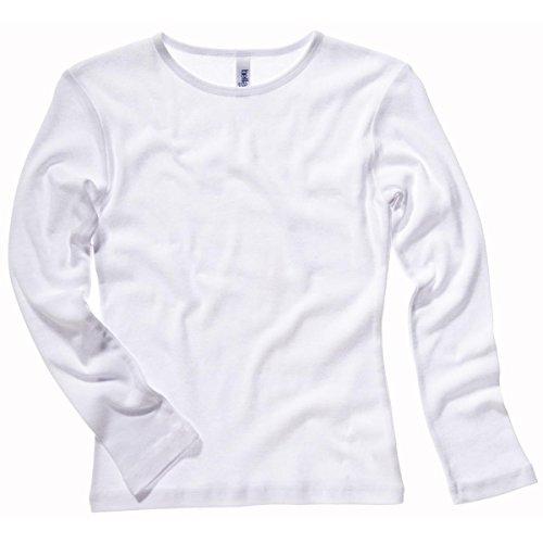 Bella Canvas - Camiseta de manga larga - para mujer blanco