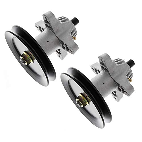 (8TEN 2pk Spindle Assembly w/Pulley for Cub Cadet MTD White Troy Bilt 42