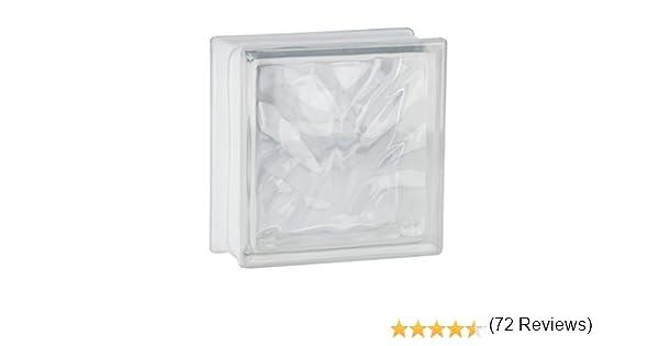 5 piezas FUCHS bloques de vidrio nube neutro 19x19x8 cm: Amazon.es: Bricolaje y herramientas