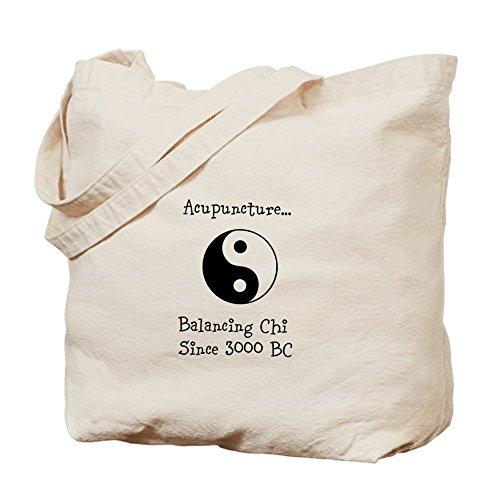 CafePress–acupuntura equilibrio Chi–Gamuza de bolsa de lona bolsa, bolsa de la compra