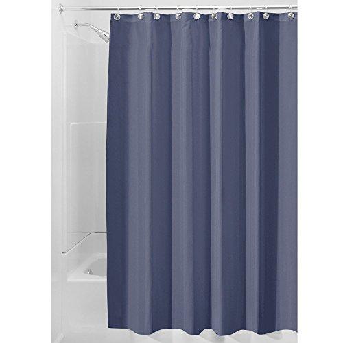 InterDesign Water Repellent Mildew Resistant Fabric Curtain