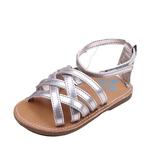 Tefamore Sandalias Zapatos De Bebé Al Aire Libre Toddler Princesa First Walkers plateado