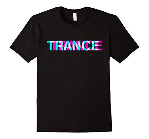 Mens Trance t-shirt music disco sound shirt Large Black (Music Trance T-shirts)