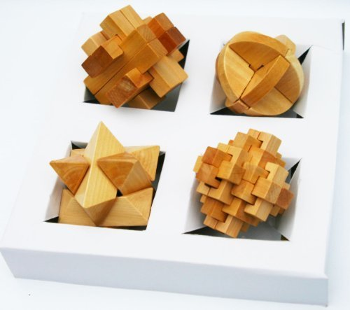 Toys of Wood Oxford Wooden Brain Teasers 3D Puzzle Game Set