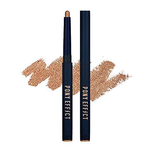 PONY EFFECT Stay Put Eyestick #Be Dazzling (Golden) 0.8g, Water-proof shadow, Glitter Pencil Eyestick, Sliding gel formula, Creamy shadow stick, For Natural Smoky, Gold bronze - Glitters Shadow Pencil
