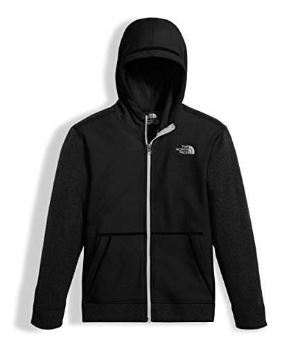 The North Face Boys Glacier Full Zip Hoodie TNF Black - (Boys Hooded Fleece Jacket)