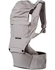 ÉCLEVE Pulse Ultimate Comfort Hip Seat Baby Carrier – Award-Winning Hip Healthy Front & Back Carry 9 Positions – Safety Certified Up to 45 lbs (Dove)