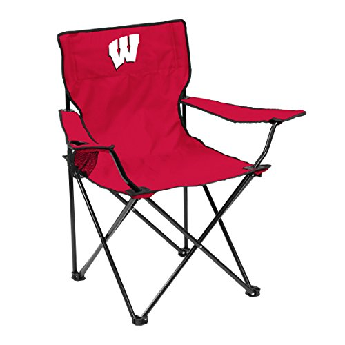 - Logo Brands NCAA Wisconsin Badgers Quad Chair, Adult, Red