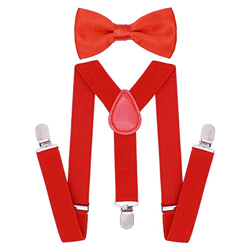 (Cinny Fashion Elastic Suspender Set with Bow Tie for Kids)