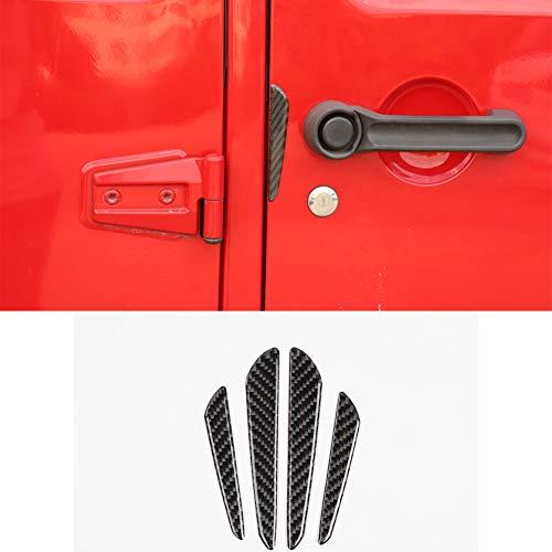 Bestmotoring Carbon Fiber Rubber Car Door Anti-Collision Strip, Car Door Protective Rubber Guard 4pcs for Jeep Wrangler JK 2007-2017