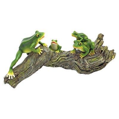 Design Toscano Froggy Business Garden Statue, Multicolored