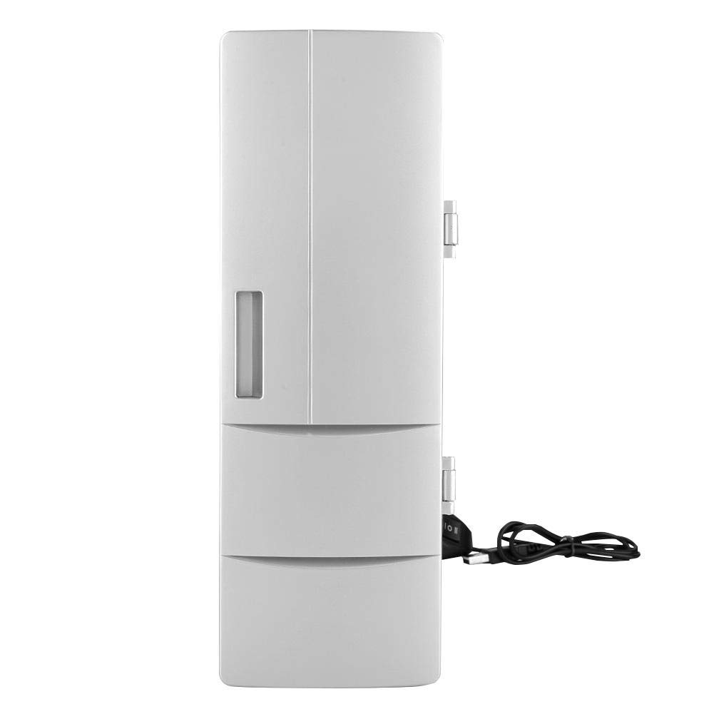 Portable USB Mini Fridge Freezer Refrigerator Cooler and Warmer with LED Lights for Home Office Car