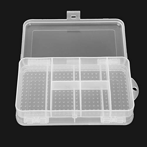 1pc 10 Slots Travel Clear Organizer Container Plastic Jewelry Beads Craft Box Case ()