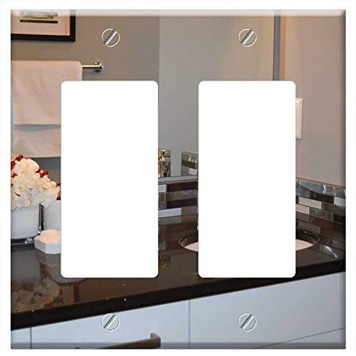 Switch Plate Double Rocker/GFCI - Sink Bathroom Vanity Counter Mirror House - Switch Bathroom Rocker Mirrors