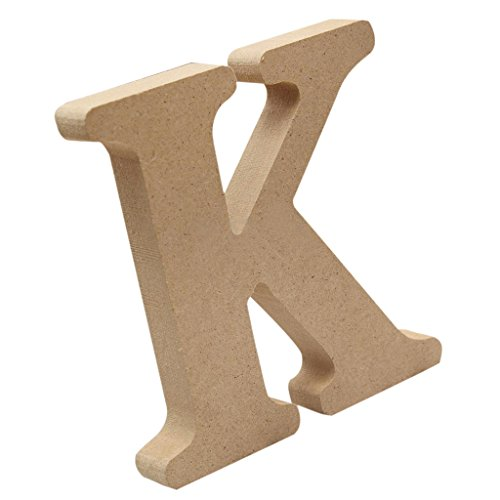 Jili Online Alphabet Craft Pine Wooden Letters Signs Kids Intellectual Toys Wall Decor - K