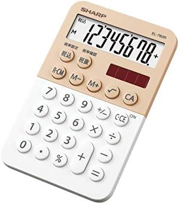 (まとめ)シャープ カラー デザイン電卓 8桁ミニミニナイスサイズ ホワイト系 EL-760R-WX 1台【×5セット】 生活用品 インテリア 雑貨 文具 オフィス用品 電卓 14067381 [並行輸入品]