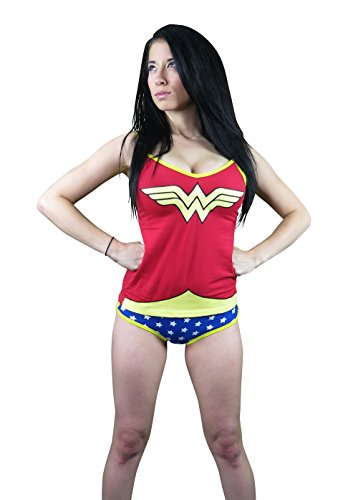 Wonder Woman Glow in the Dark Women's Cami/Panty Set- Medium