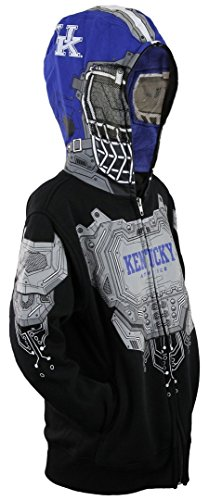 NCAA Kentucky Wildcasts Big Boys Full Zip Masked Hoodie, Black