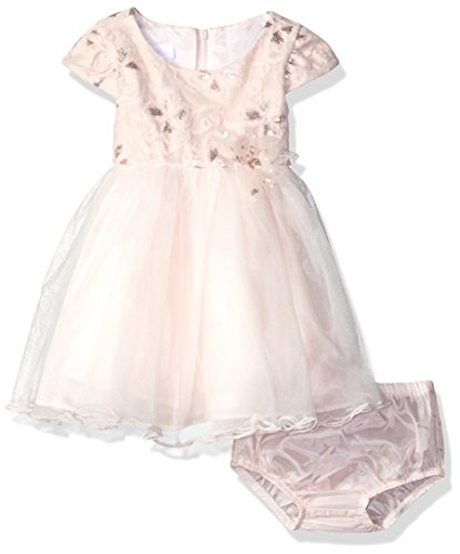 Bonnie Baby Baby Sequin Embroidered Ballerina Dress, Pink, 3-6 (Panties Fancy Baby)