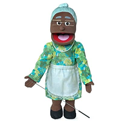"25"" Granny, Black Grandmother, Full Body, Ventriloquist Style Puppet: Toys & Games"