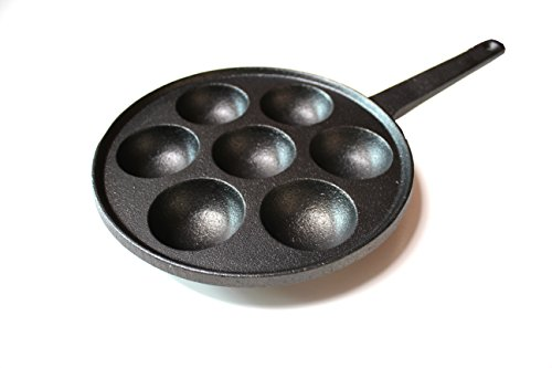 Ball Cast Iron (Kasian House Cast Iron Griddle for Poffertjes Pancake Balls (Aebleskiver), Thai Kanom Krok and Other Desserts Ball, 2