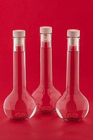 casavetro Tapón de Corcho Transparente Botellas de Vidrio vacías 500 ml - Tapas de Corcho Recargables Reutilizables - Apretado al Aire para endrinas Gin Aceite Vinagre Cerveza Vino Sidra(12 x 500 ml)