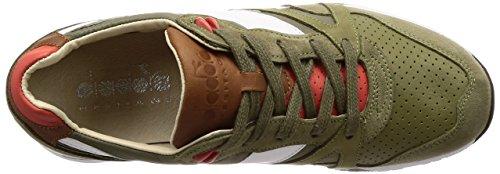 Diadora Patrimonio - Scarpe Da Ginnastica N9000 H Ita Per Luomo C7426 - Erba Verde-rosso Fienile A Secco