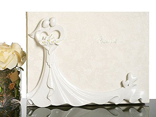 bride-and-groom-with-calla-lily-bouquet-guest-book-c423-quantity-of-1