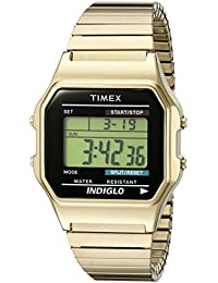 Timex Men's T78677 Classic Digital Gold-Tone Stainless...