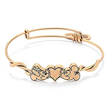 Amazon Com Kissing Mickey And Minnie Mouse Alex And Ani Charm