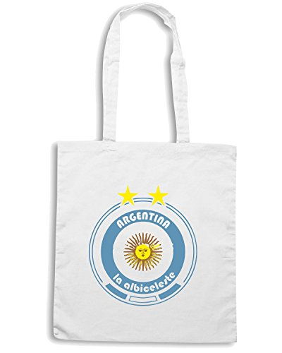 T-Shirtshock - Bolsa para la compra WC0670 World Cup Football - Team Argentina Blanco