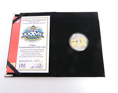 Highland Mint Super Bowl 37 Flip Coin Buccaneers One Troy Oz Silver Coin #/7,500 (Highland Mint Coins)
