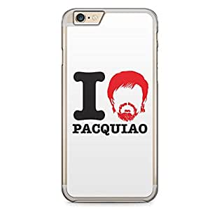 Manny Pacquiao iPhone 6 Plus Transparent Edge Case - I heart Pacquiao