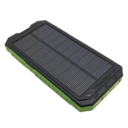 ASMGroup Power Bank Solar Charger 3 in 1 Outdoor Camping Dual USB Port External Solar Panel Power Bank Box Charger Case DIY Kit Set Compass LED Light 3
