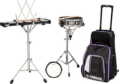 (Yamaha 285 Series Mini Snare and Bell Kit with Backpack and Rolling Cart)