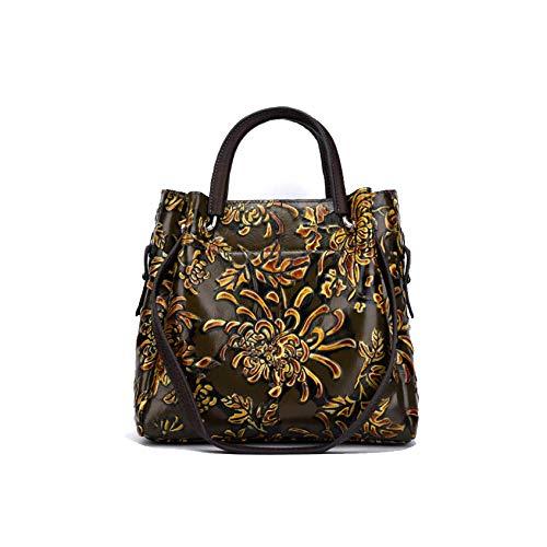 Main De Brown Mode Chinois Sac Simple Style La à Sac Fait Bandoulière AJLBT Dames Fleurs Rétro à Style Twf15nxq