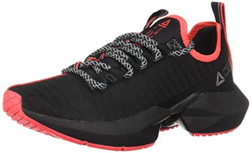 Reebok Women's Sole Fury SE, Black/Cold Grey/neon red, 8 M US