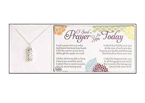 Dicksons Silver Plated I Said a Prayer for You Today Prayer Box 18 inch Chain