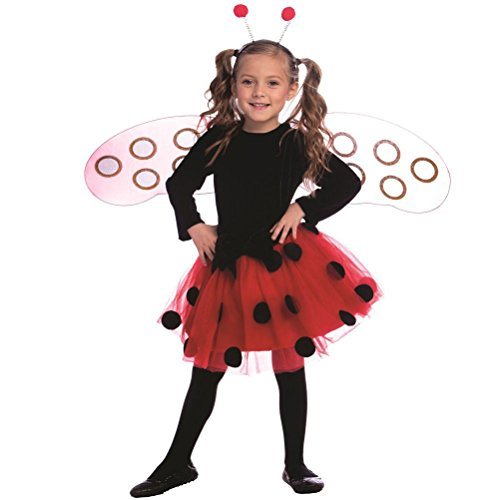 [Ladybug Dress Costume Set for Girls -] (Ladybug Costume Makeup)
