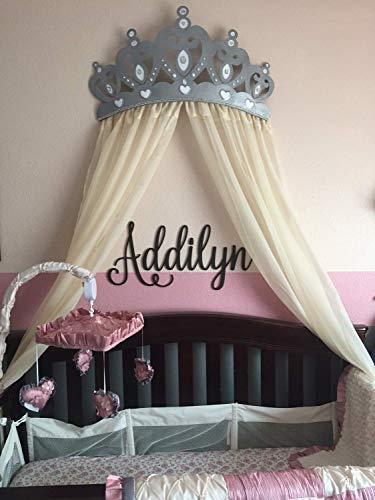 (Silver Glitter Crown Canopy - With)