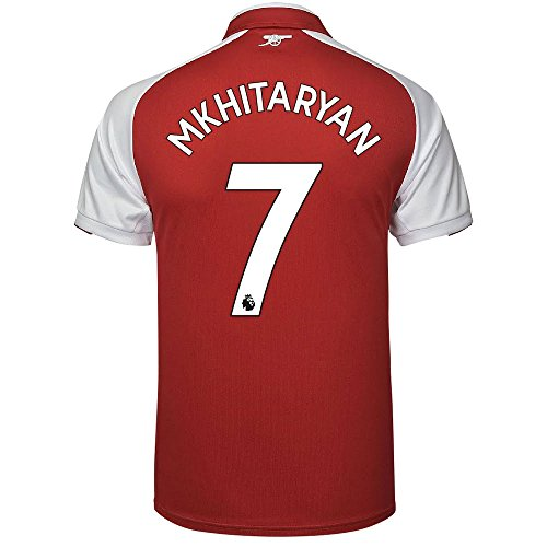 Arsenal Home Mkhitaryan 7 camicia 2017 2018 (Official Premier League stampa)