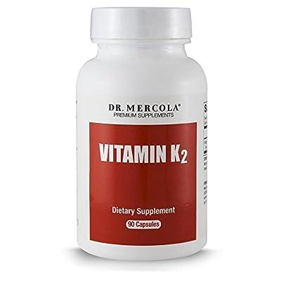 Dr. Mercola Vitamin K2 - 90 Capsules - Supports Memory Function and Bone Health - 150mcg of K2-7 Per Capsule