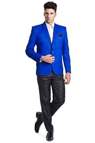 Colori Blu Giacca Uomo Una Bicolore Bottoni Causa Da Cotone Wintage Due In vwqadPxPU