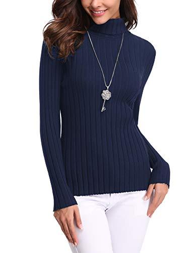 Girocollo Caldo Notte Invernali Abollria Lungo Blu Ideale Collo Pullover Lunga Eleganti Maglioni Vestito Manica Maglieria collo Dolcevita Regalo A Donna Maglione E Alto 1vAq1w6