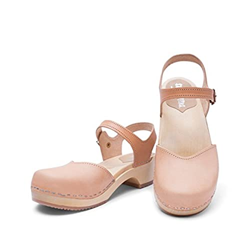 bcdae771212 outlet Swedish Wooden Low Heel Clog Sandals for Women | Saragasso by  Sandgrens