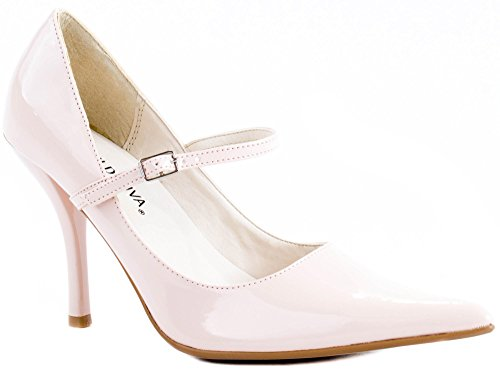 Shoes Wild with Buckle Strap Pumps Women's 160 Cosmo Nude ...